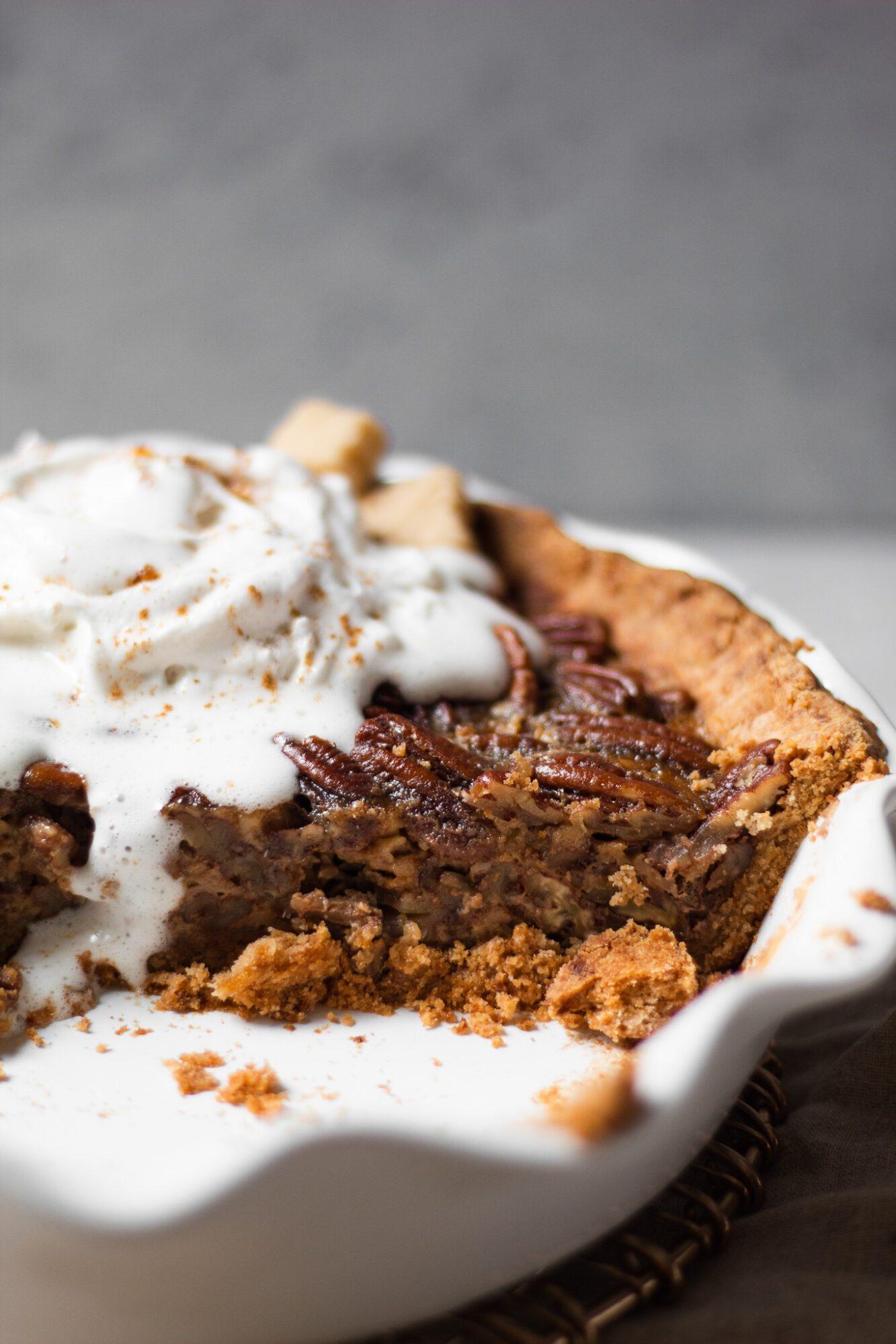 baked paleo pecan pie filling