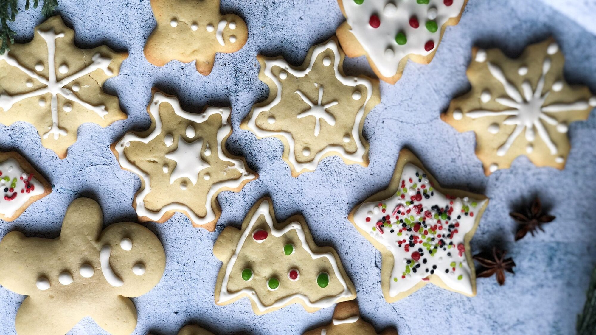 A healthier alternative to the traditional sugar cookie with the same classic taste! Easy and delicious, these cut-out cookies are a perfect holiday treat!