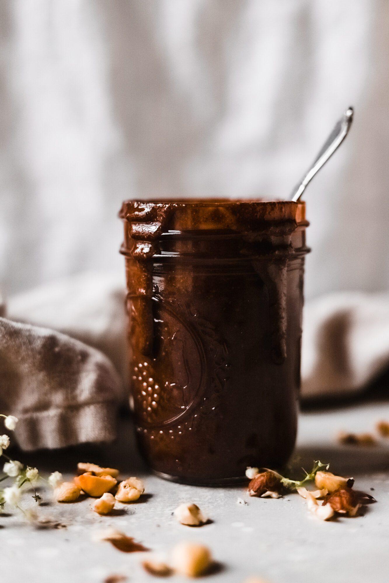jar of vegan Nutella