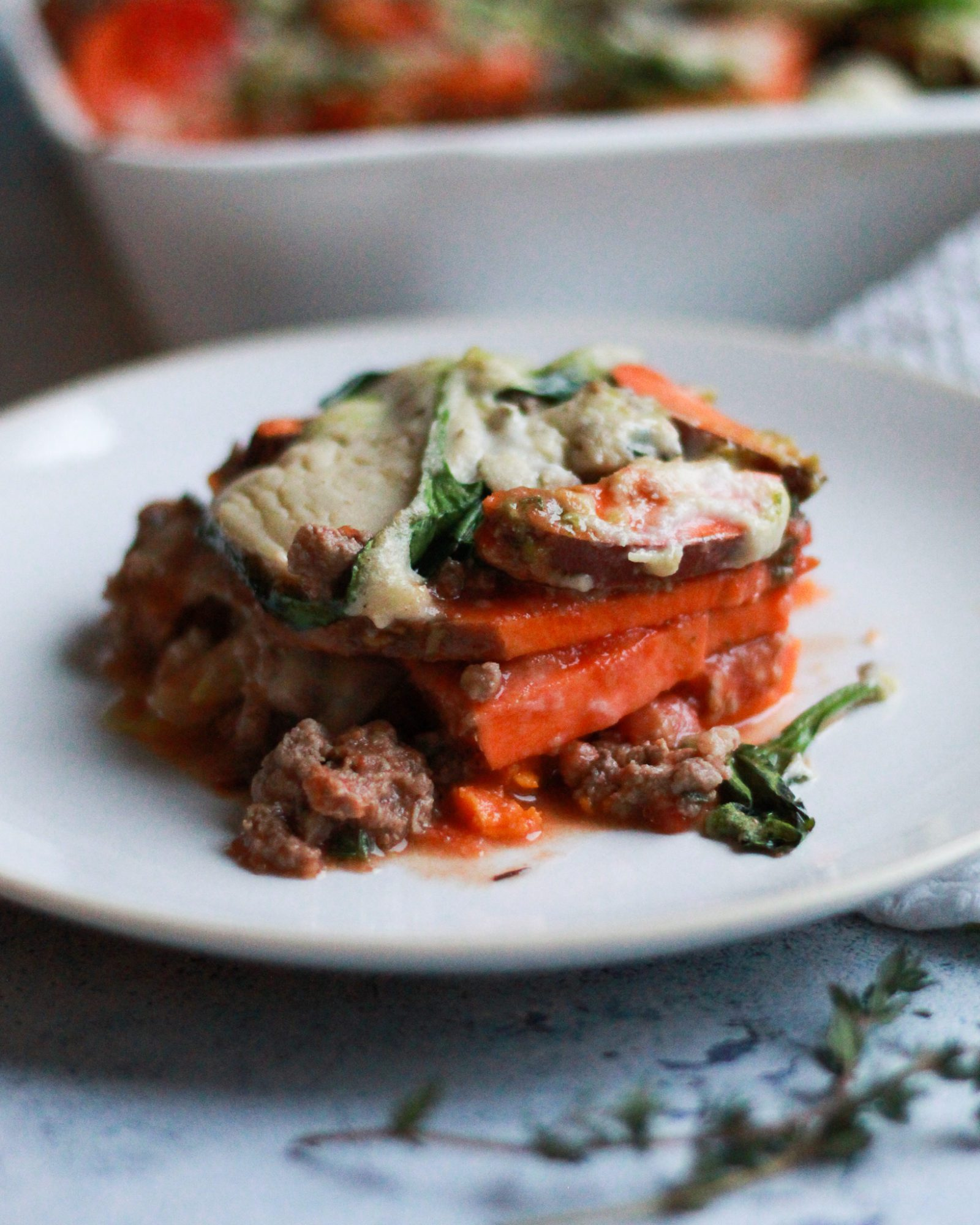 This paleo lasagna tastes just as delicious as the traditional, but it's paleo, Whole30 compliant, dairy free, gluten free, and grain free!