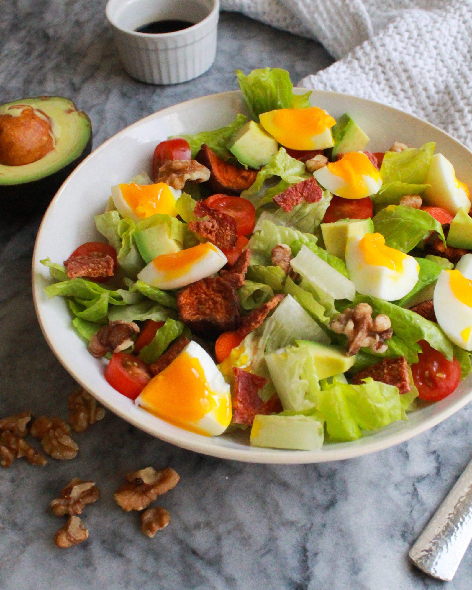 side shot of Paleo Cobb salad