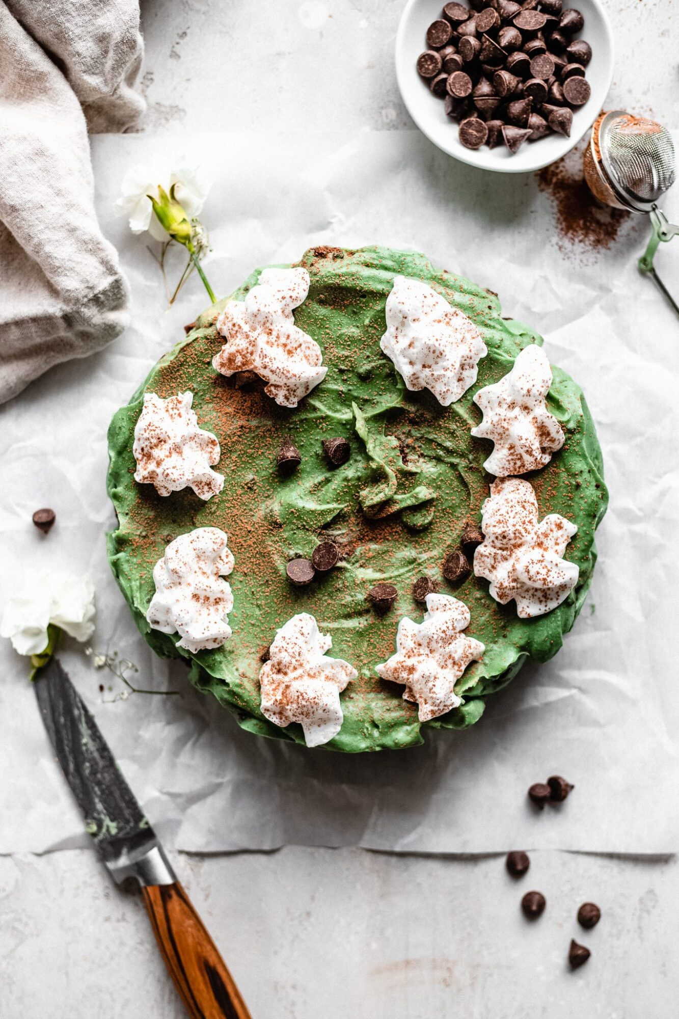 paleo vegan grasshopper pie