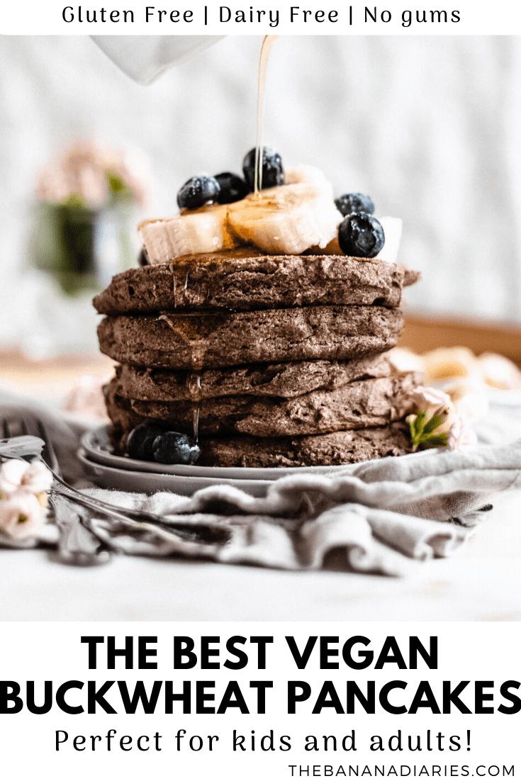 pinterest image for vegan pancakes