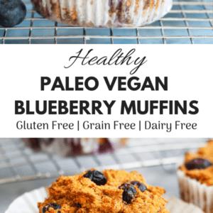 pinterest image for vegan blueberry muffins