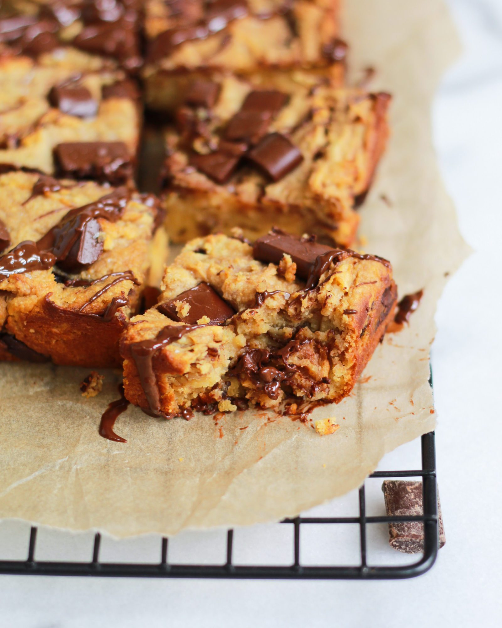 bite out of paleo chocolate chip blondie