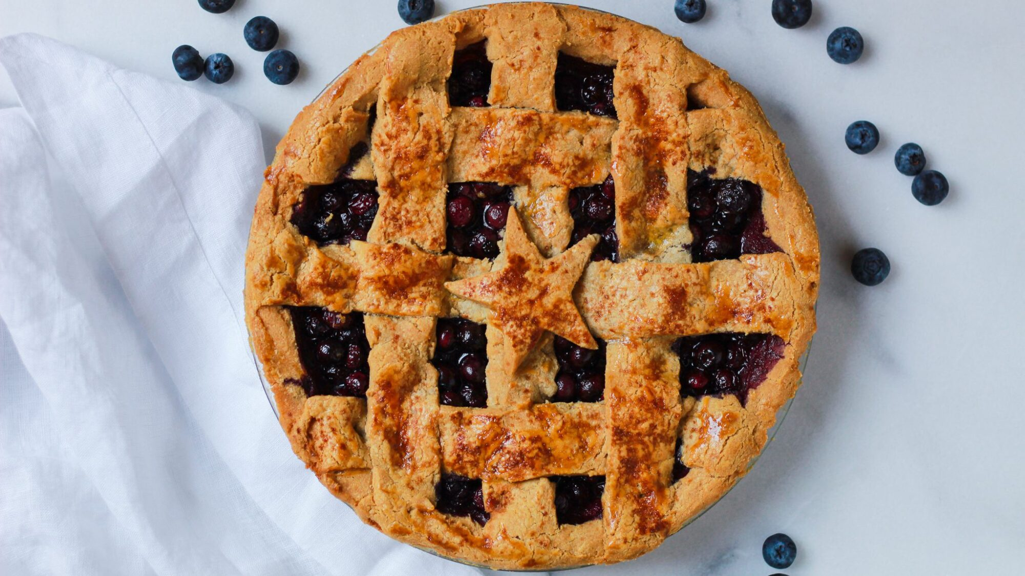 header for healthy blueberry pie