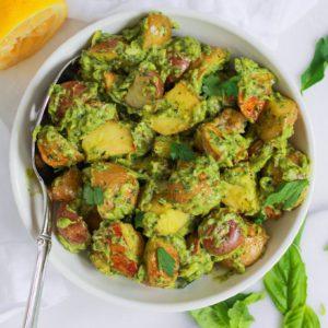 bowl of healthy potato salad