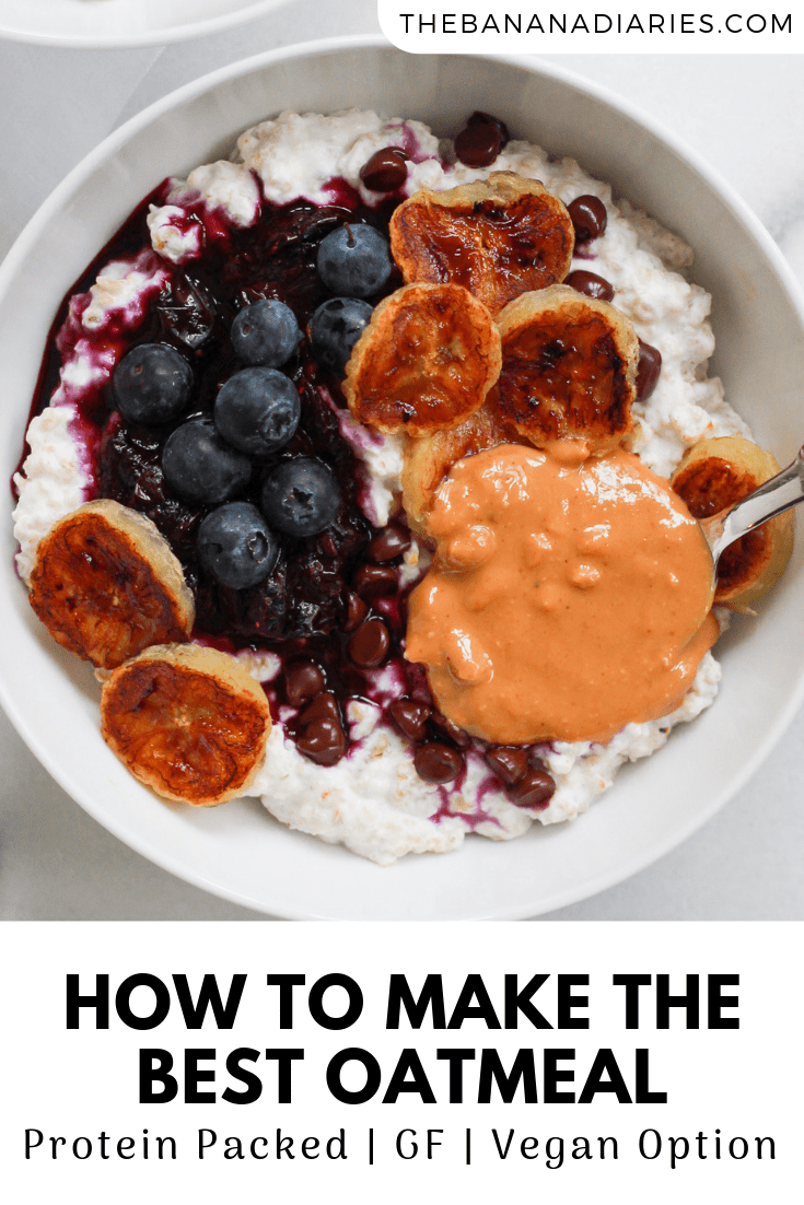 pinterst image for healthy oatmeal