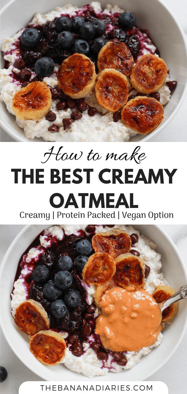 Pinterest image of basic oatmeal recipe