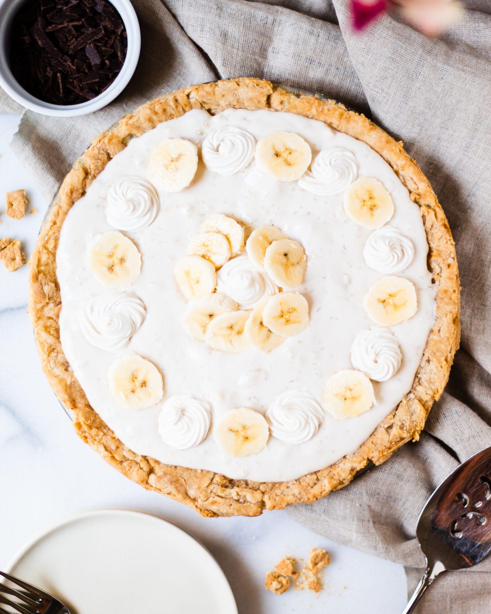 healthy banana cream pie
