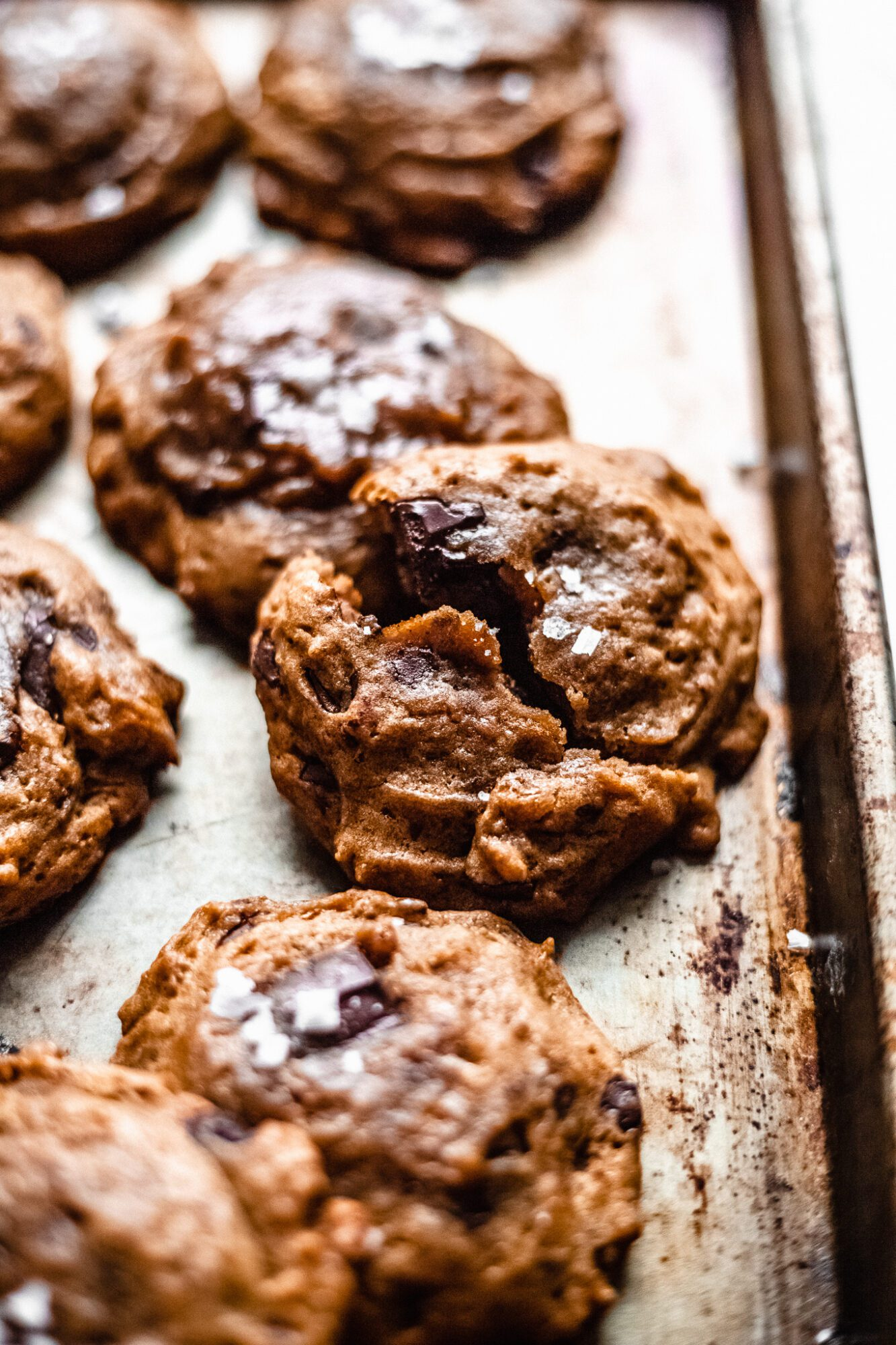 vegan chocolate chip cookie broken