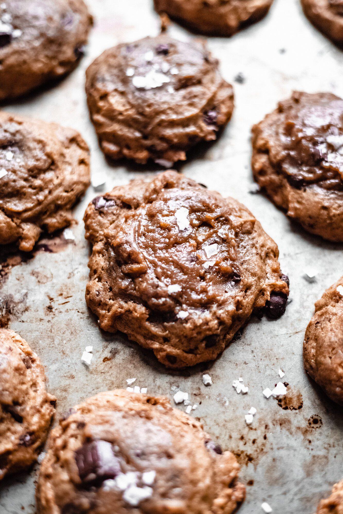 baking vegan chocolate chip cookies