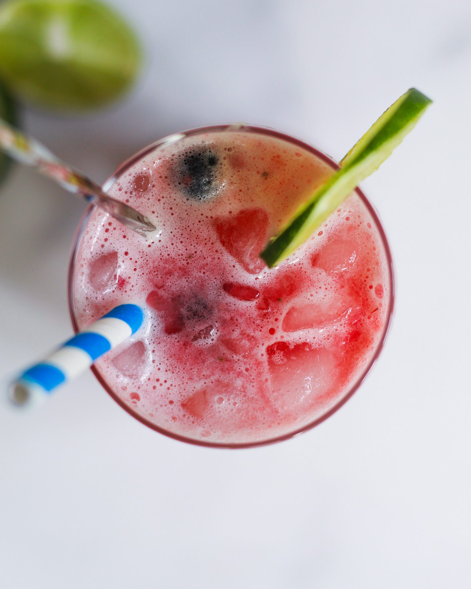 close up of healthy mocktail recipe