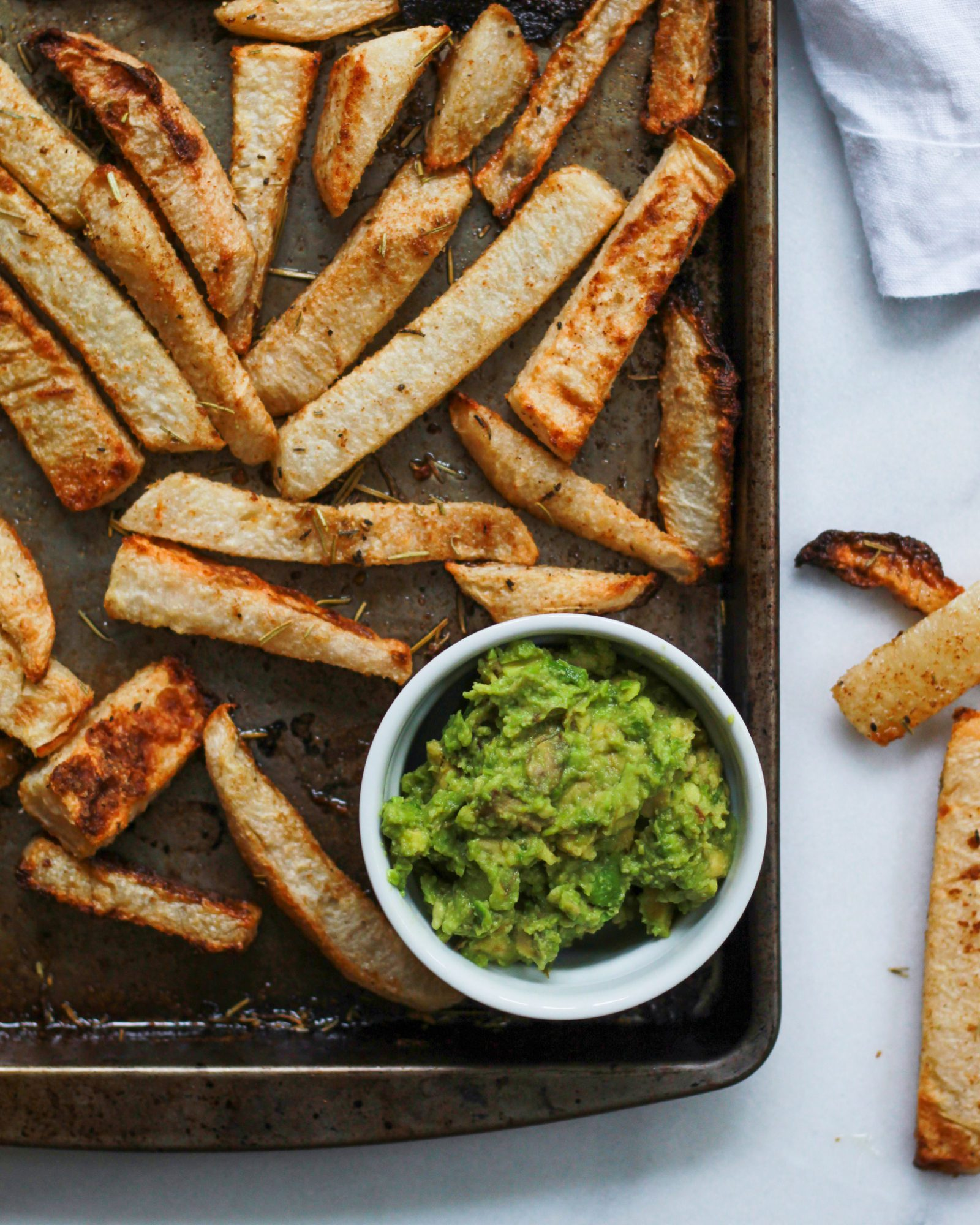 paleo french fries with guacamole