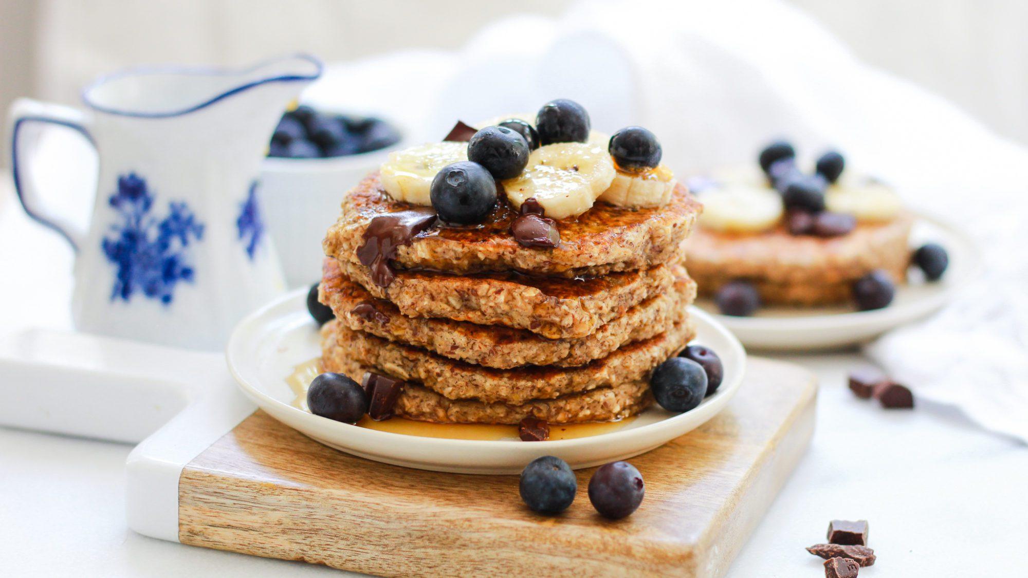 header for gluten free oatmeal pancakes