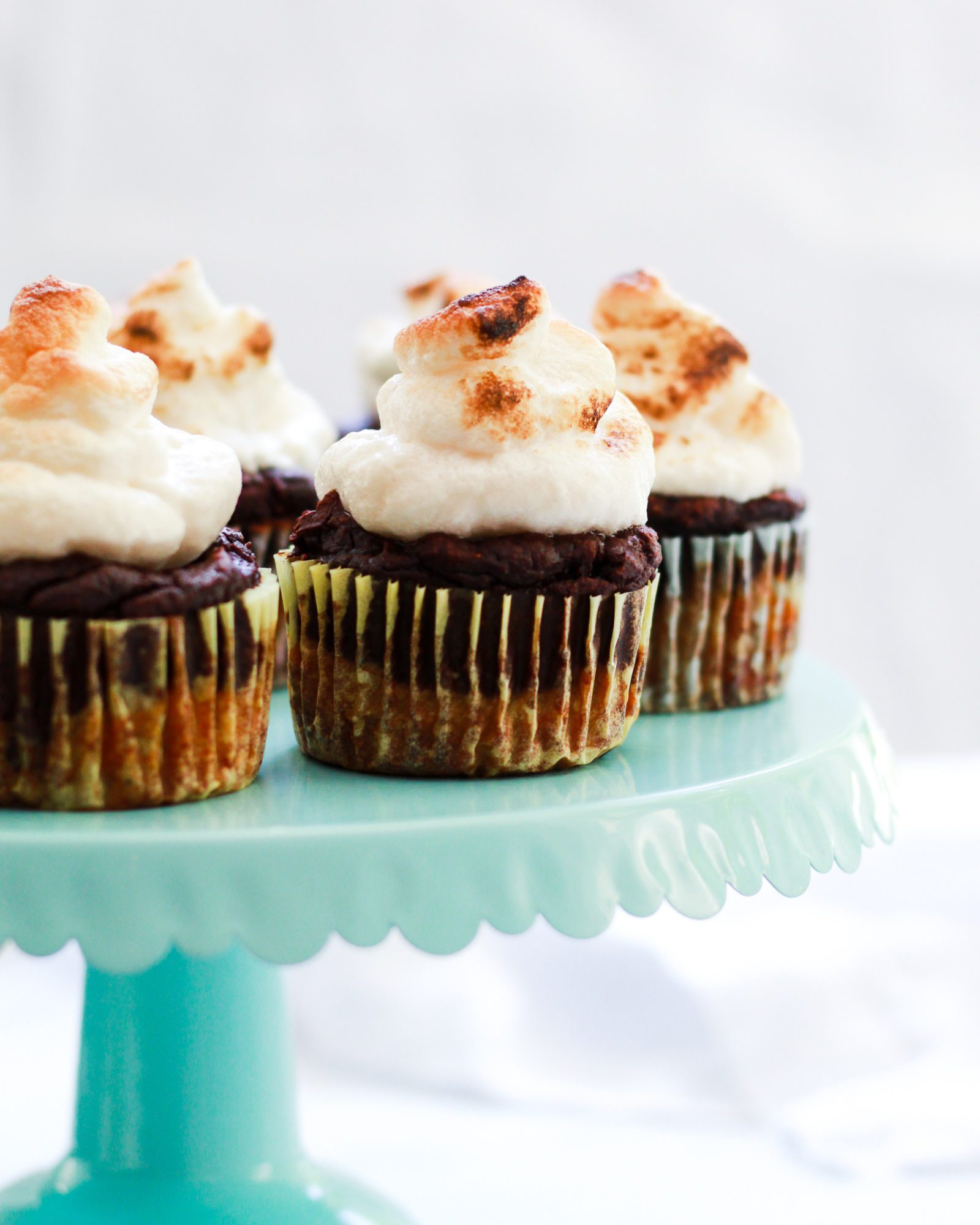 Paleo s'mores cupcakes on cupcake tower