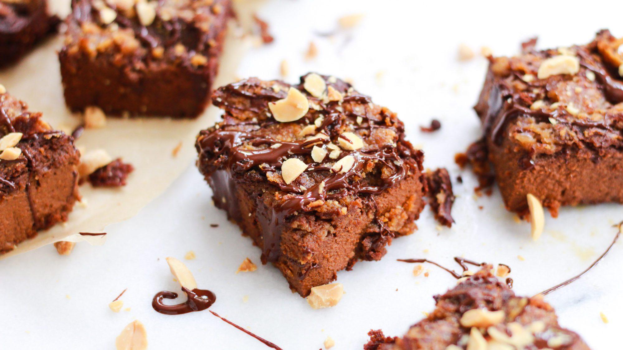header for peanut butter swirl brownies