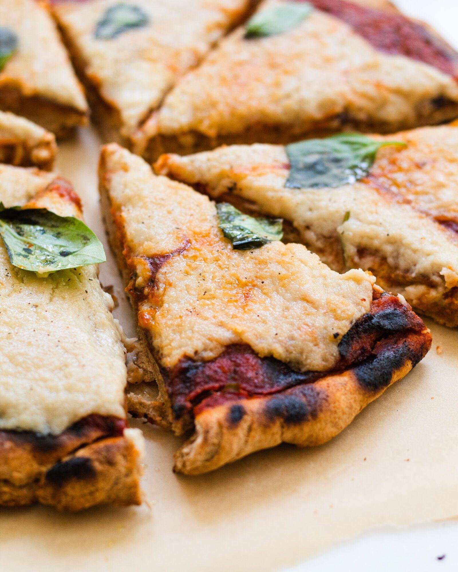 vegan pizza angled