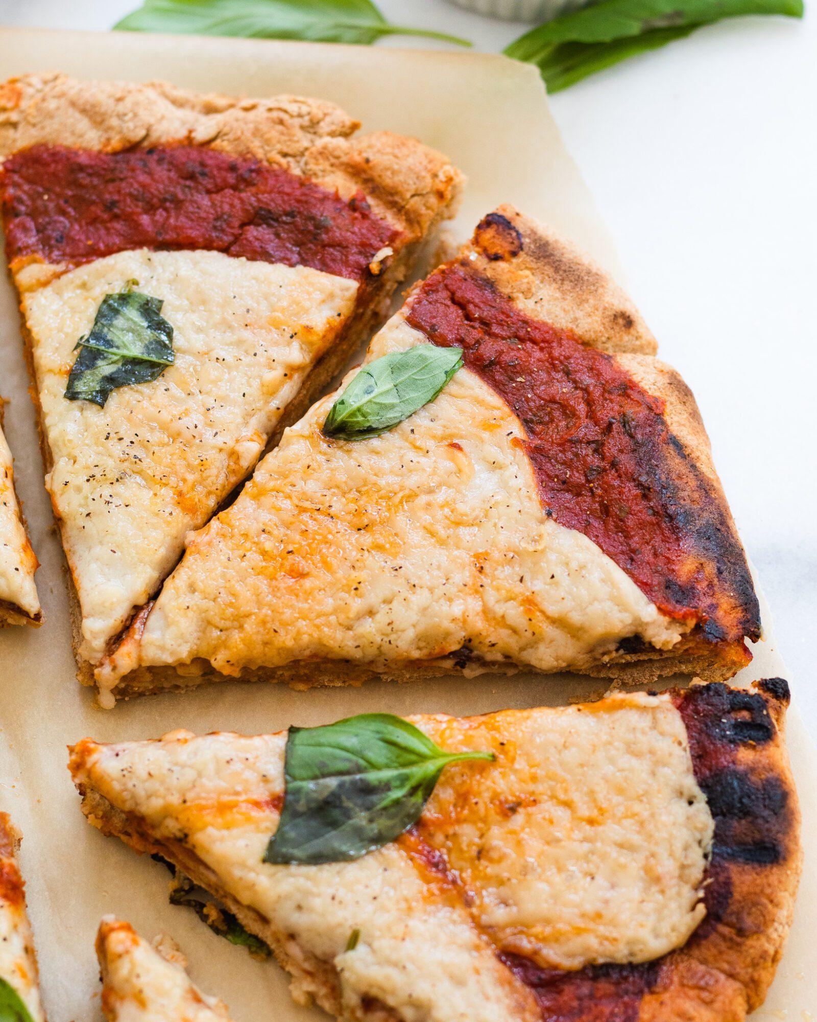 slices of vegan pizza