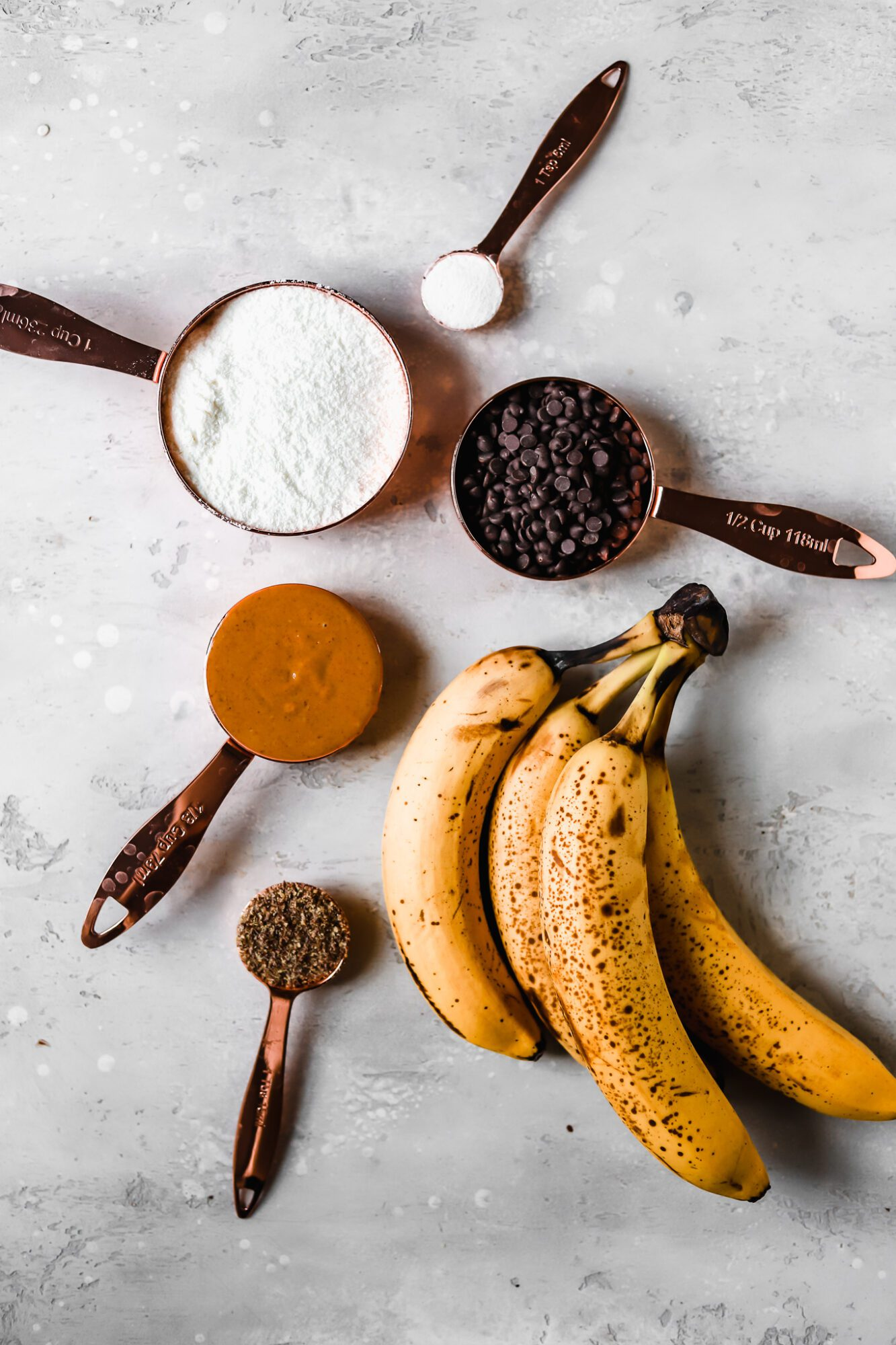 ingredients for coconut flour banana bread