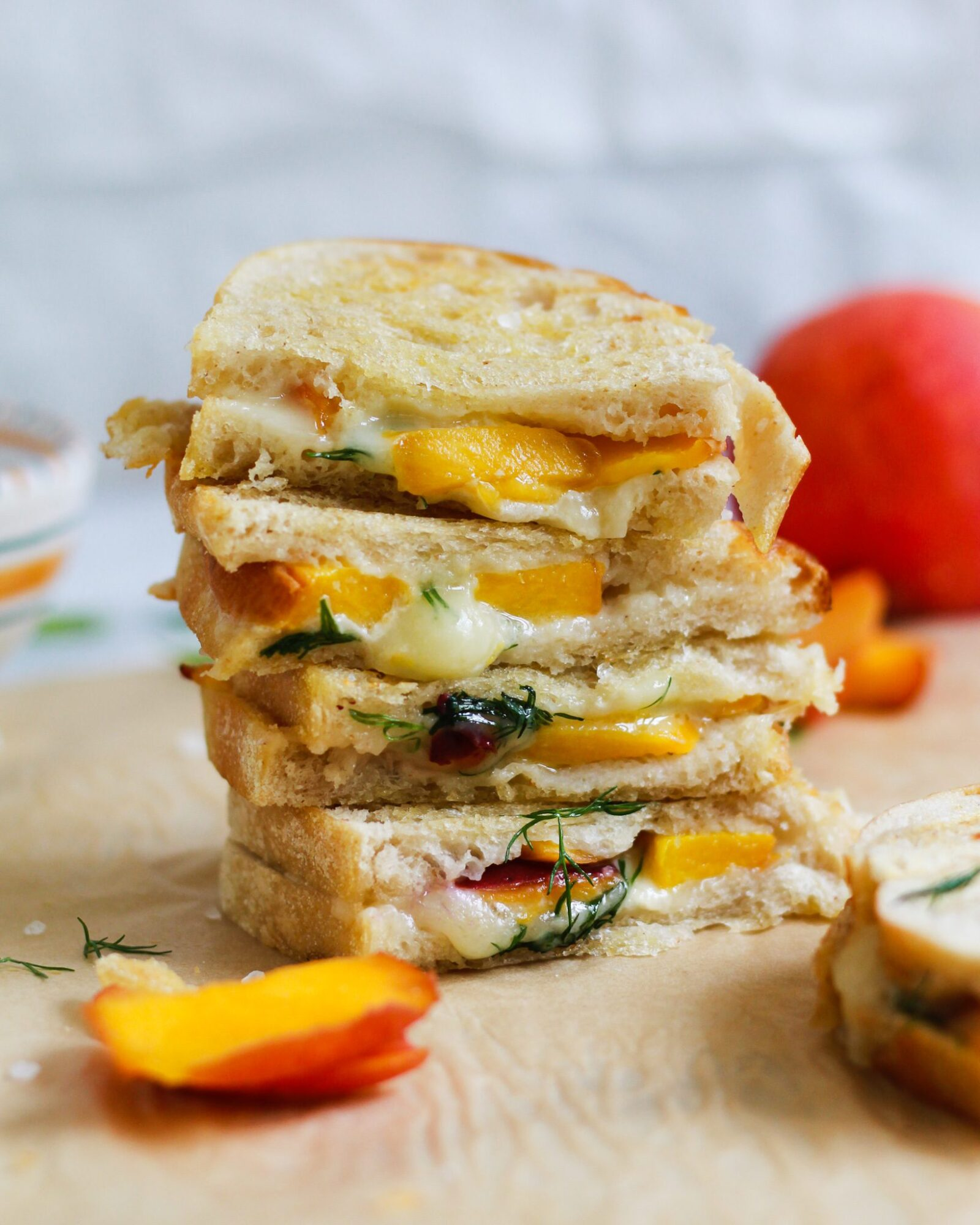 stack of grilled cheese sandwiches