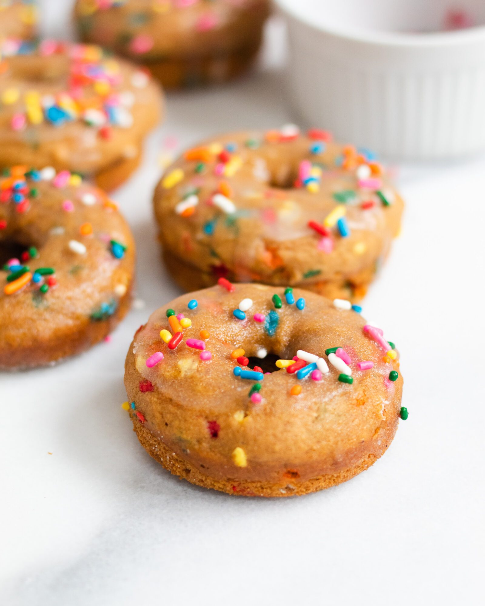 easy baked donuts with sprinkles