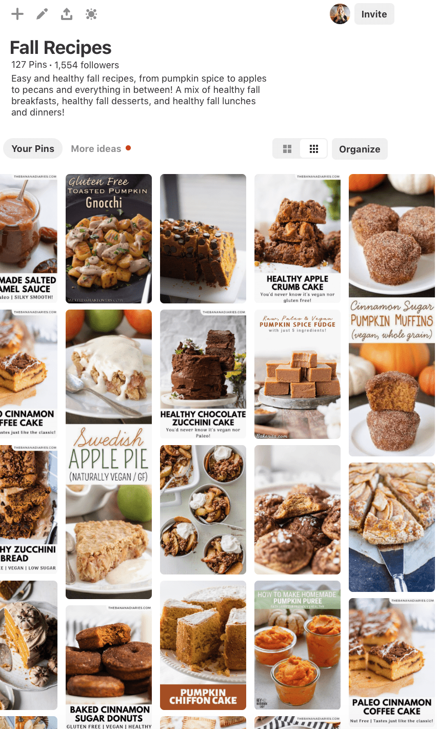 Pinterest board of all things fall