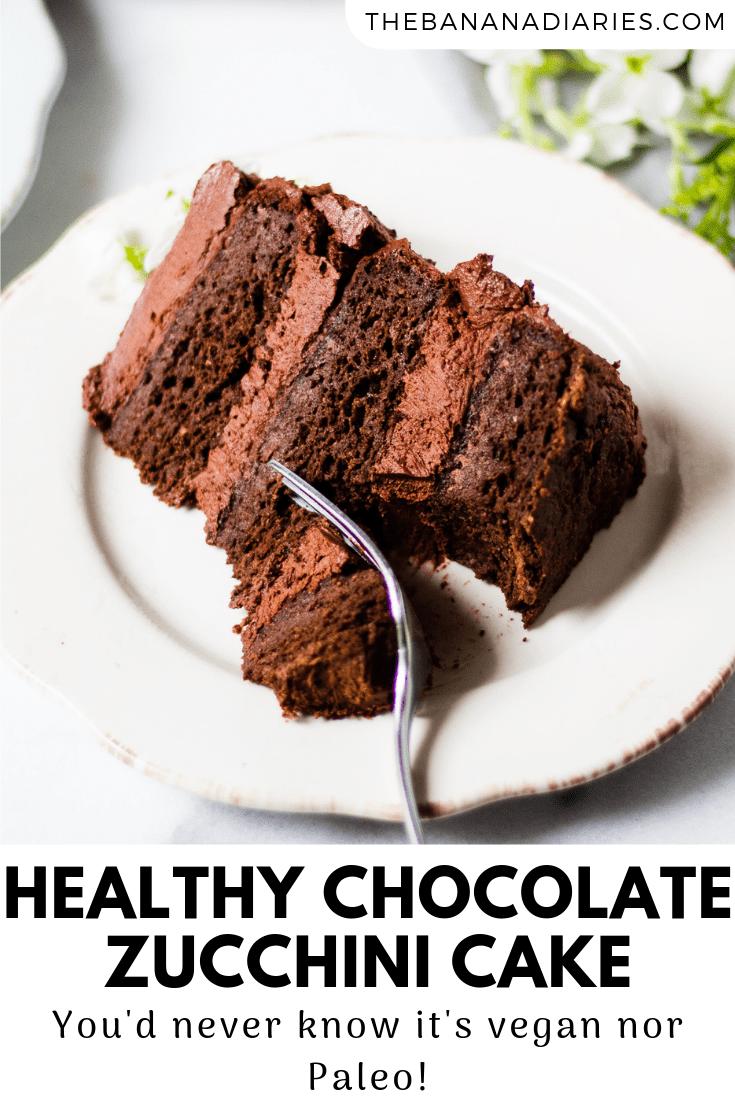 pinterest image for chocolate cake