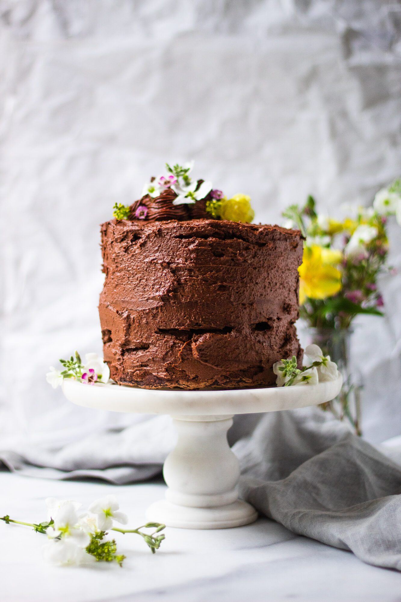 whole vegan chocolate zucchini cake