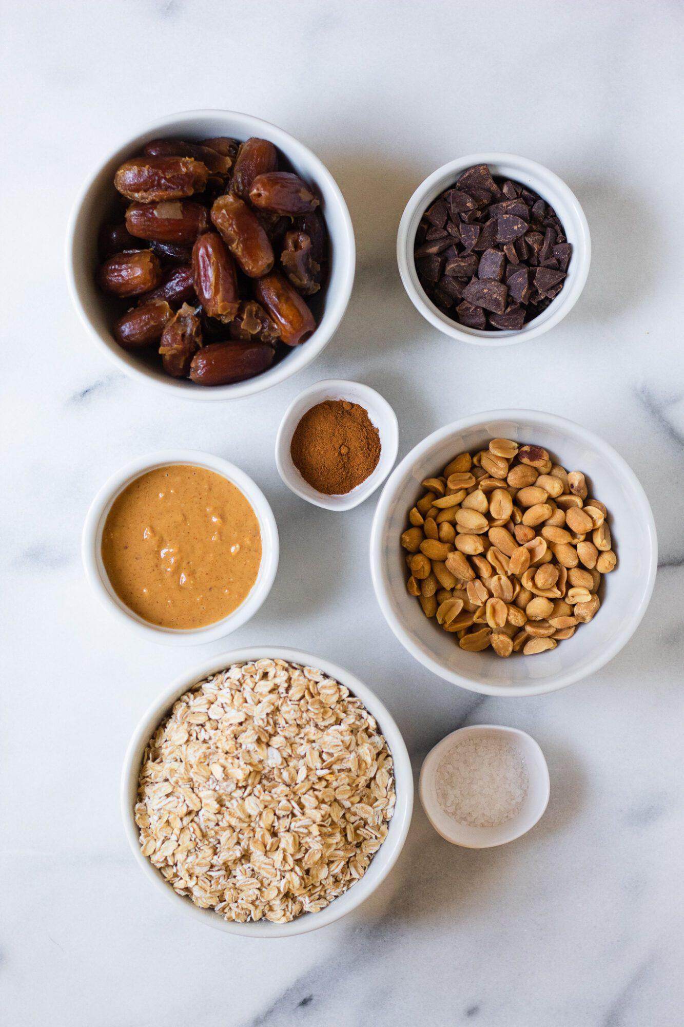 ingredients for easy granola bars
