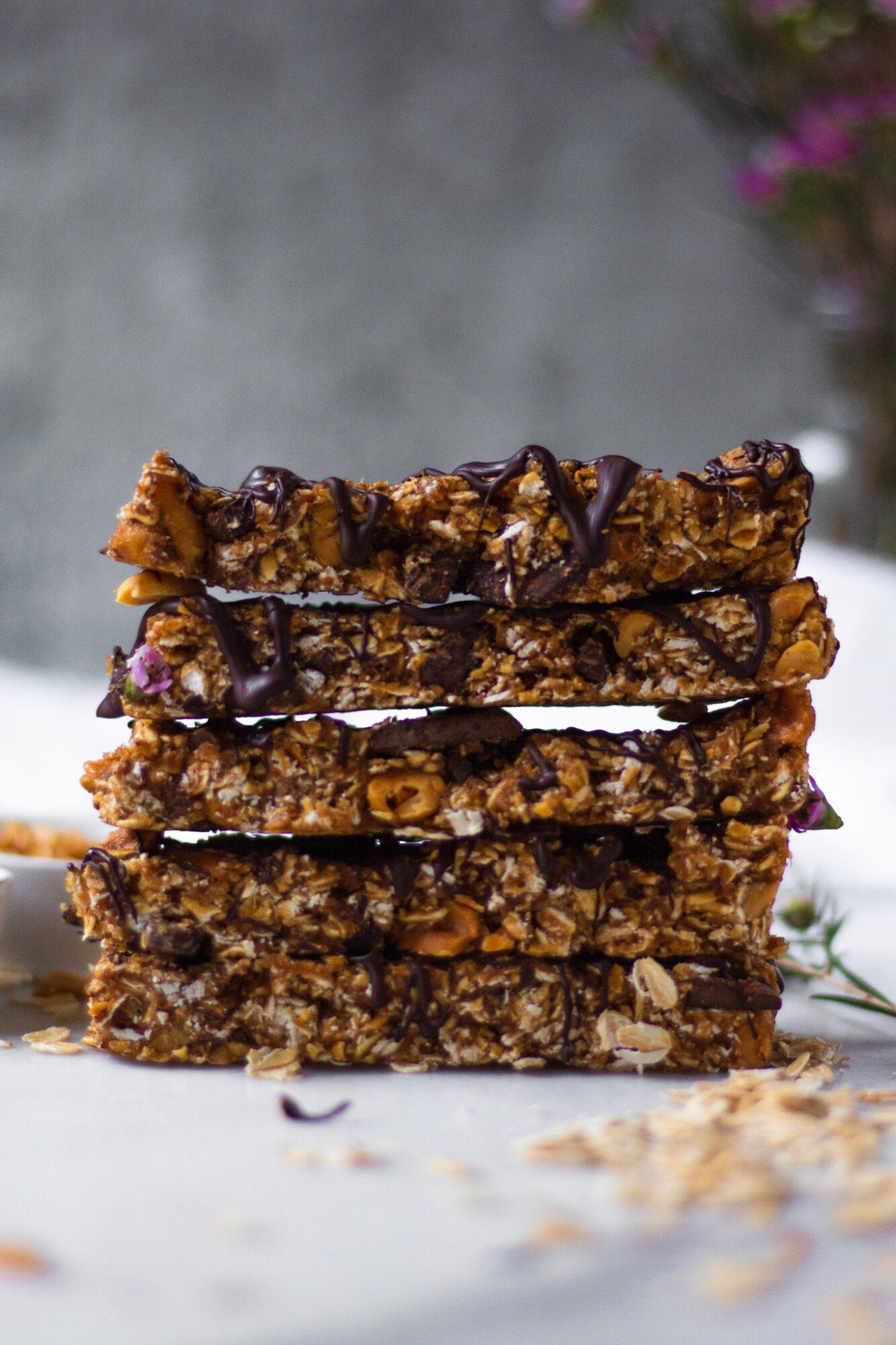 stacked granola bars