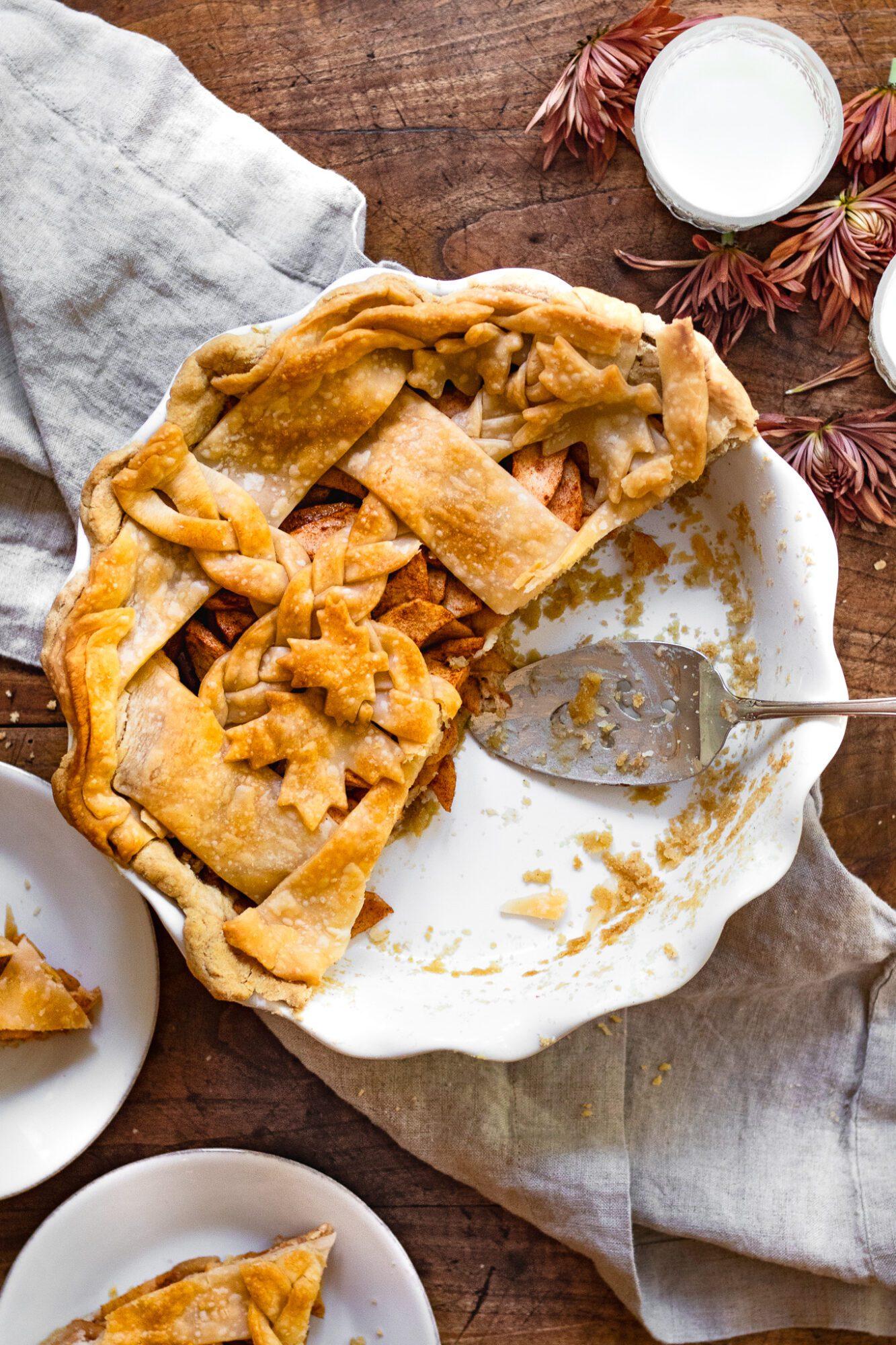 apple pie being eaten