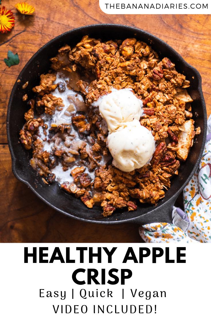 pinterest image for apple crisp recipe