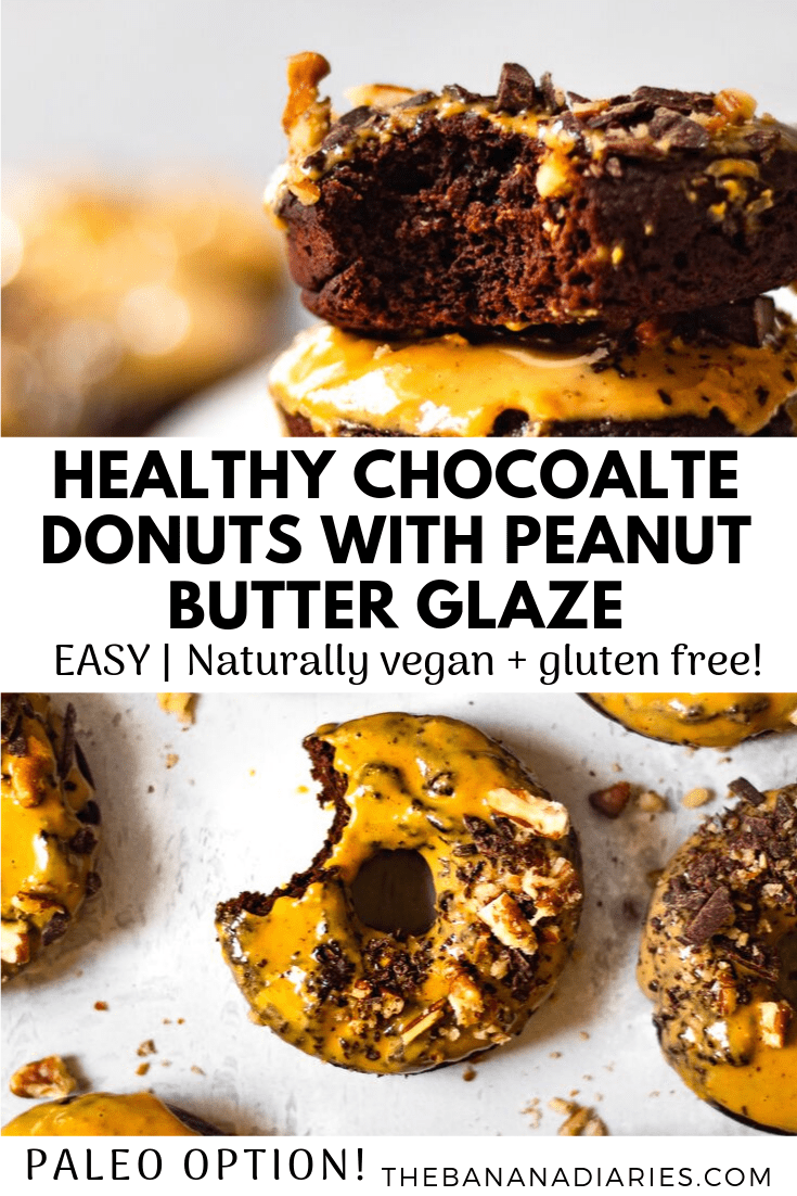 pinterest image for chocolate donuts