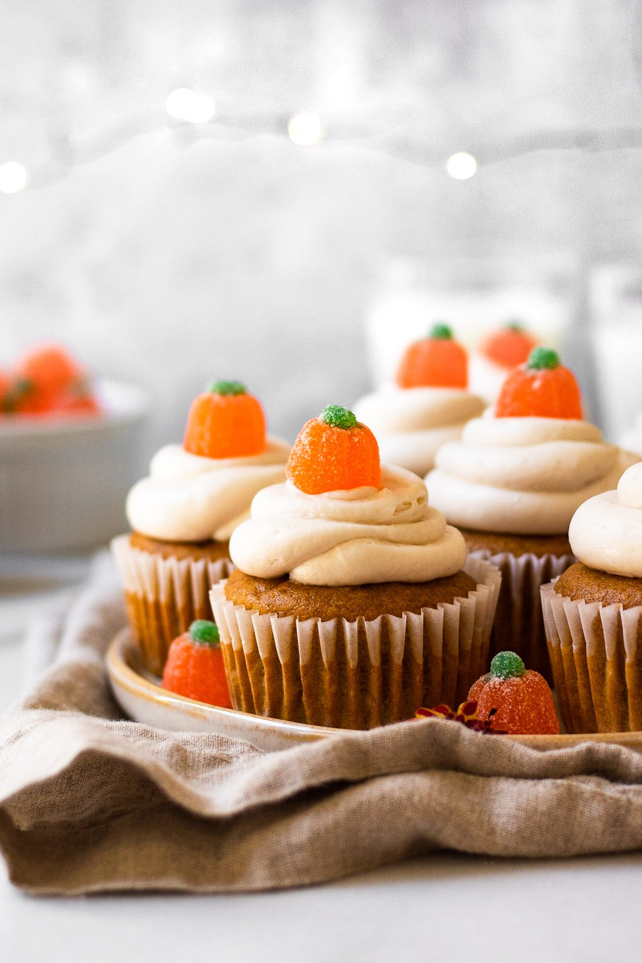 cupcakes on serving dish