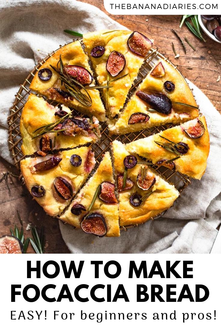 pinterest image for focaccia bread