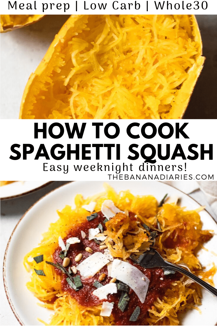pinterest pin for spaghetti squash