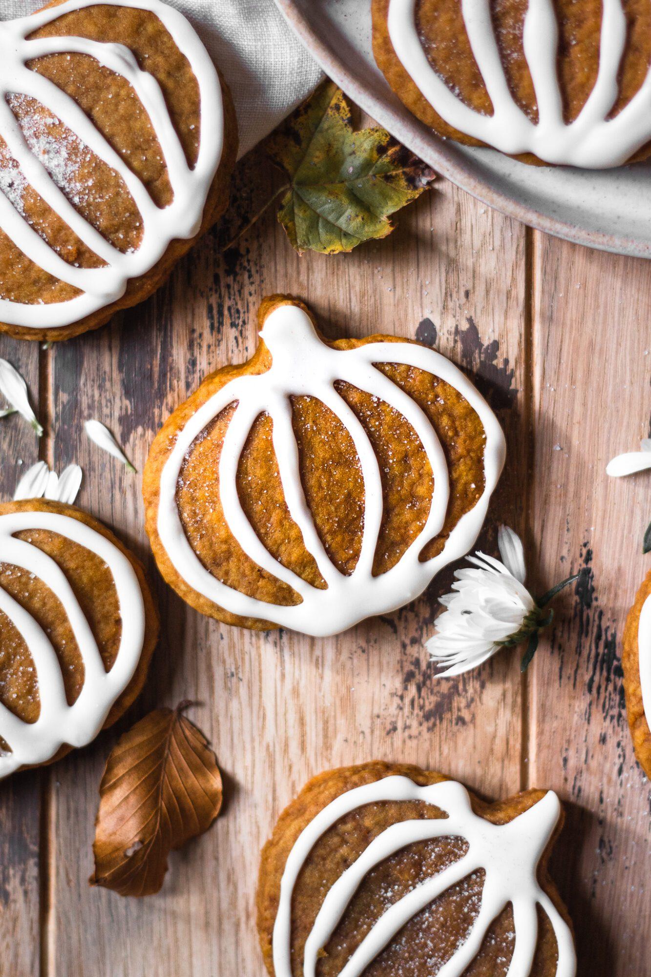 soft pumpkin sugar cookie