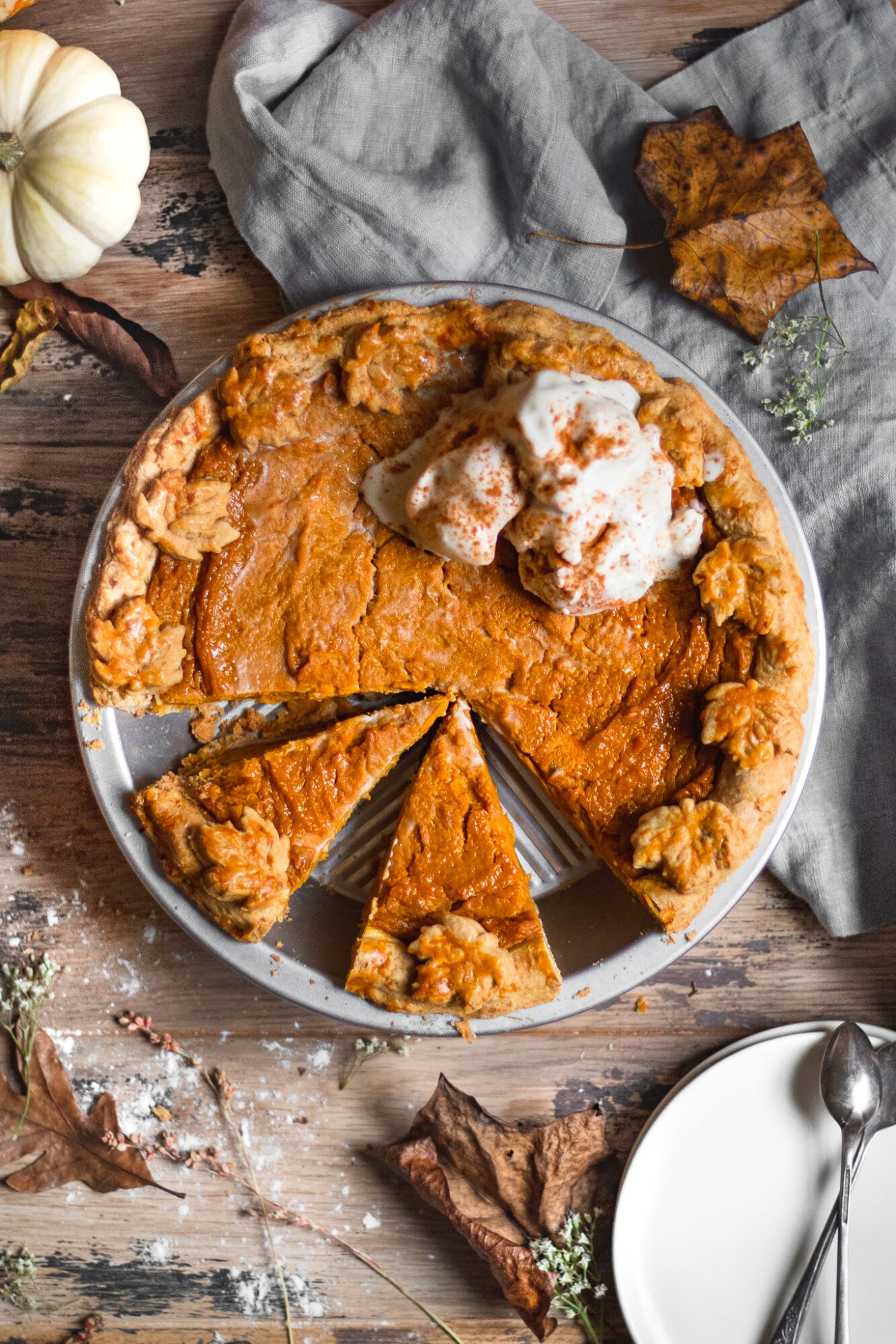 slices of sweet potato pie