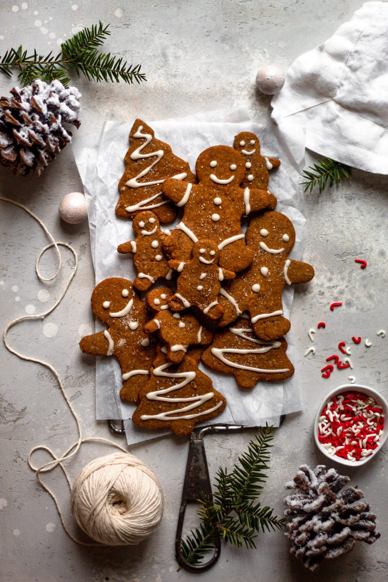 gluten free gingerbread cookies on cooling rack