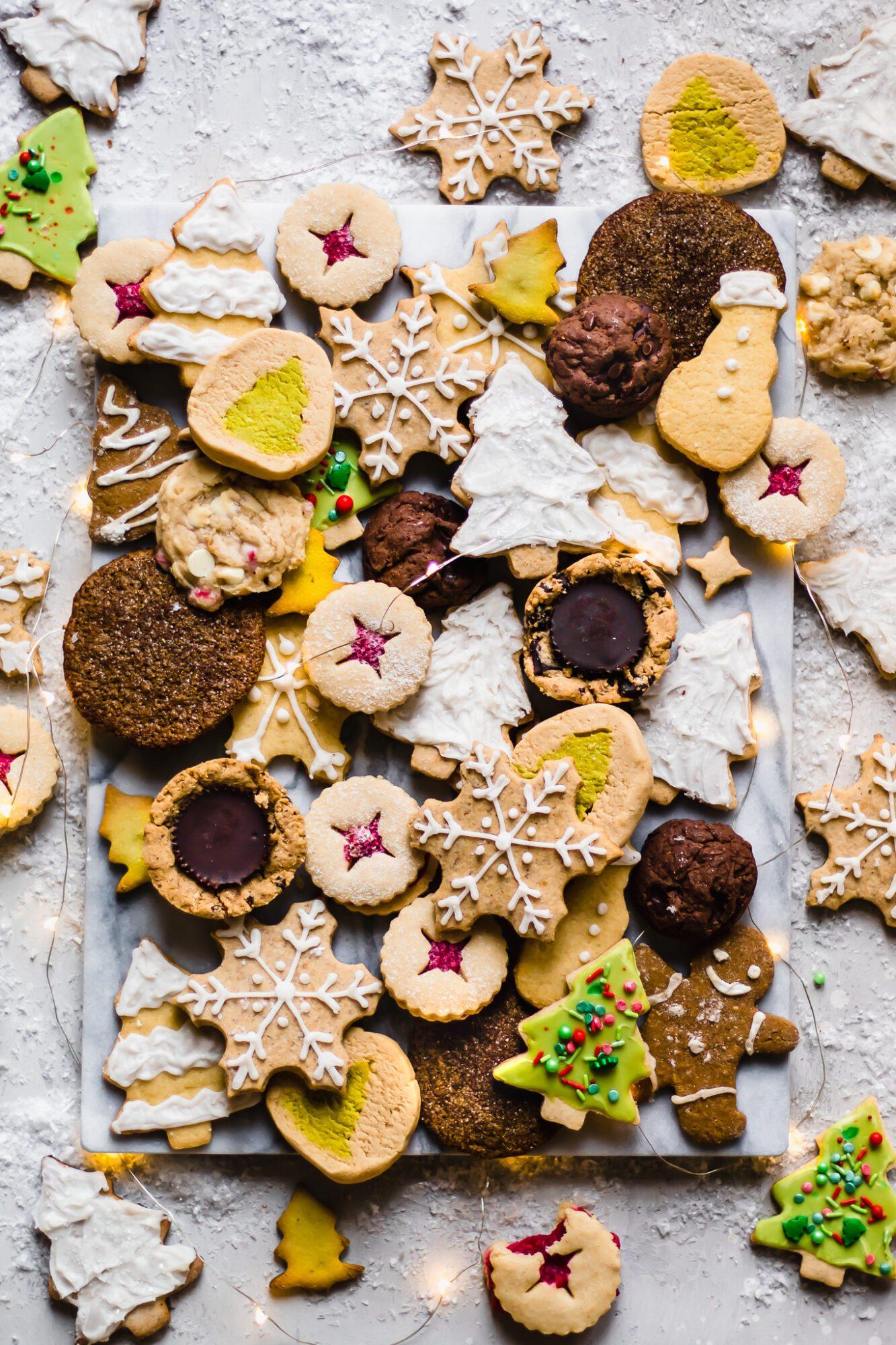 board of Christmas cookies