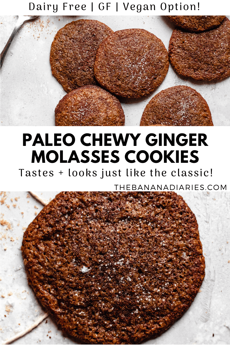 pinterest image for molasses cookies