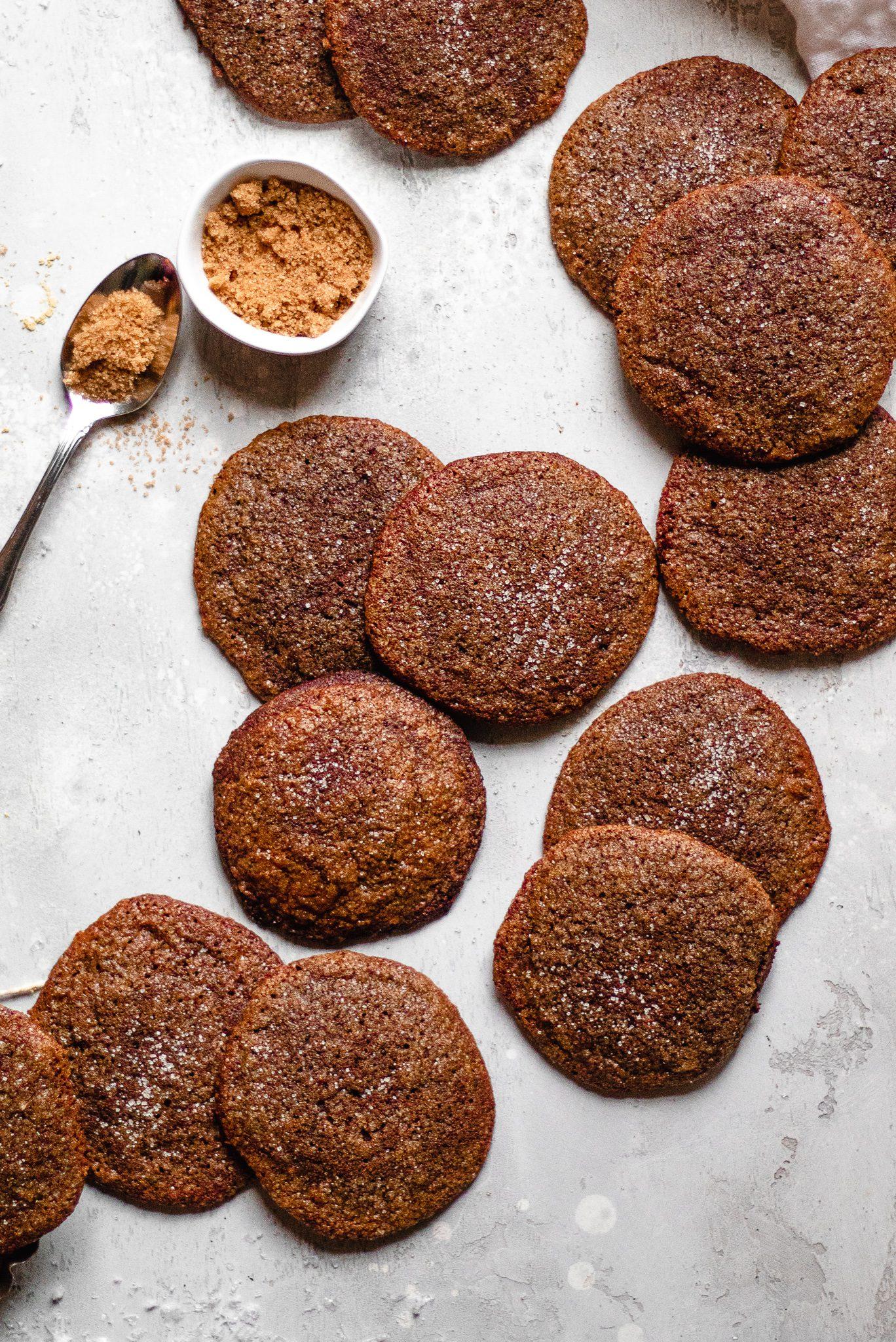 Chewy Paleo Ginger Molasses Cookies (Vegan)
