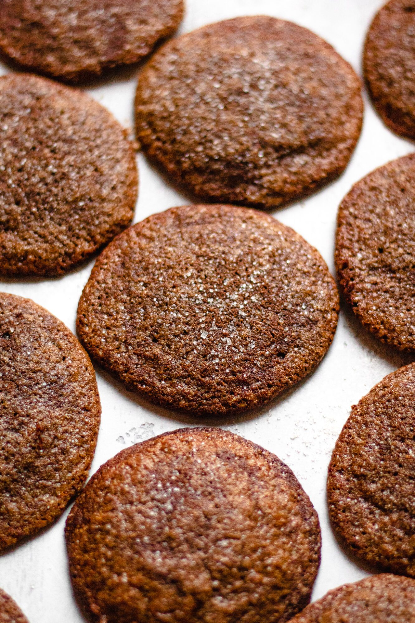 ginger molasses cookies on board