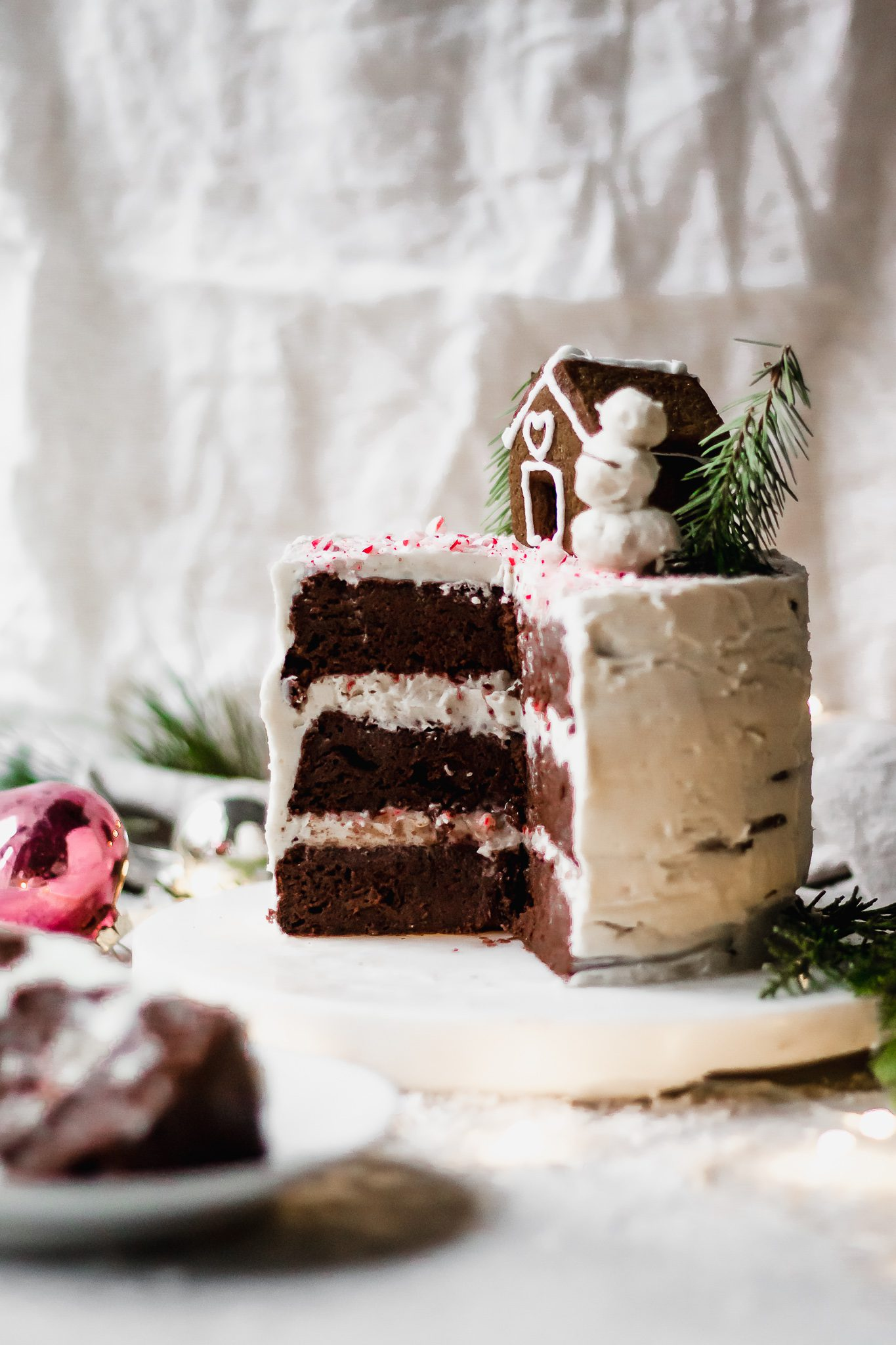 Vegan Chocolate Peppermint Cake