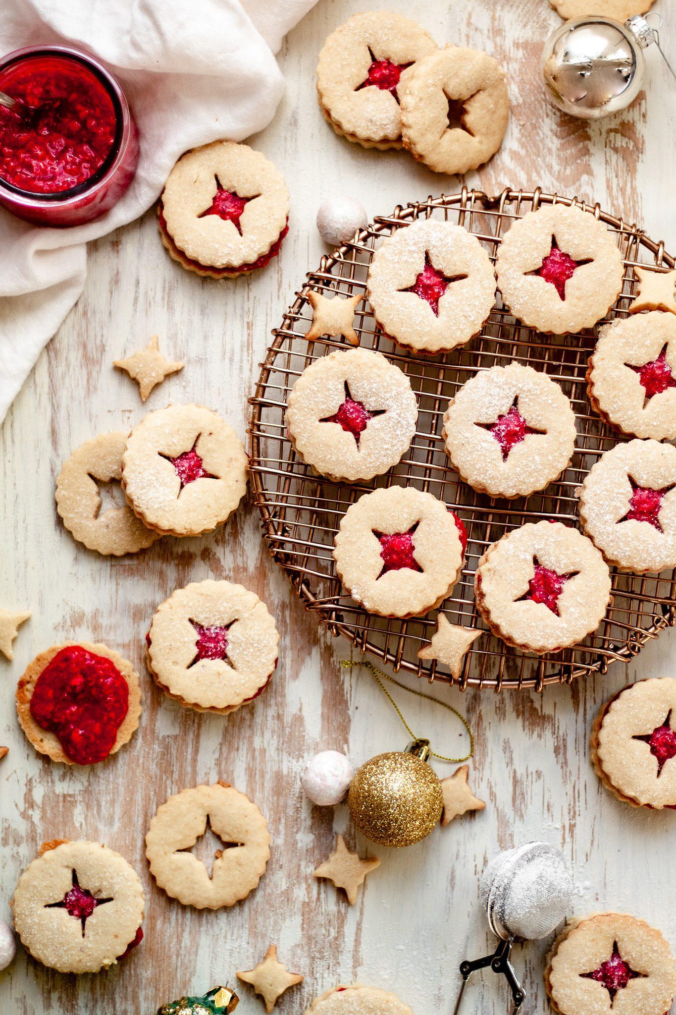 Vegan Linzer Cookies (Gluten Free)