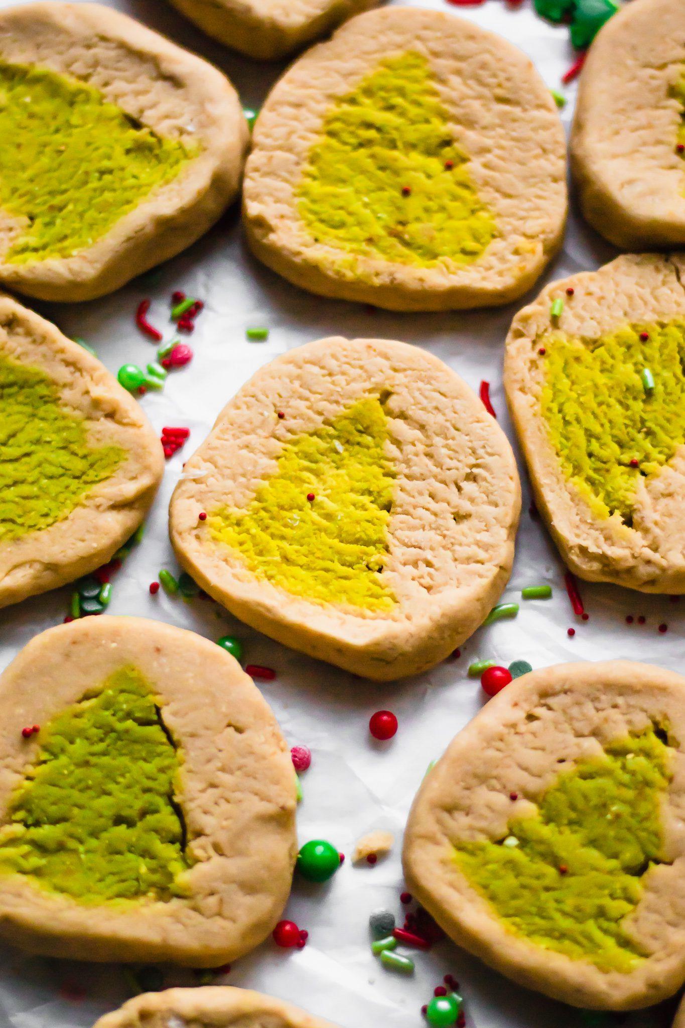 Vegan Christmas Tree Slice and Bake Cookies (Grain Free, Gluten Free!)