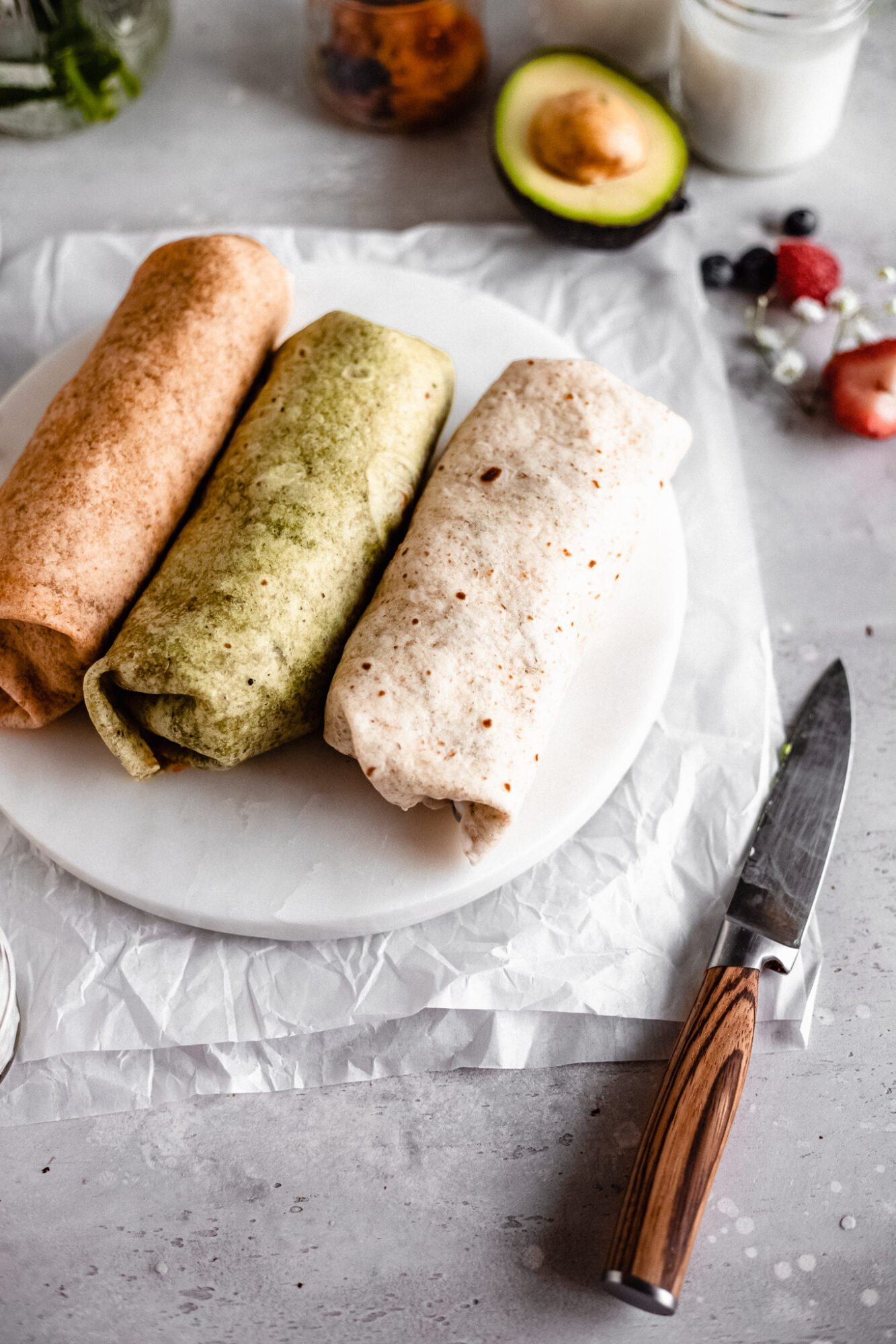 wrapped vegan breakfast burritos