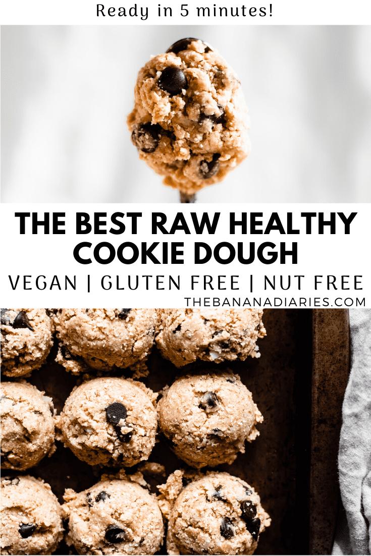 pinterest pin for vegan cookie dough