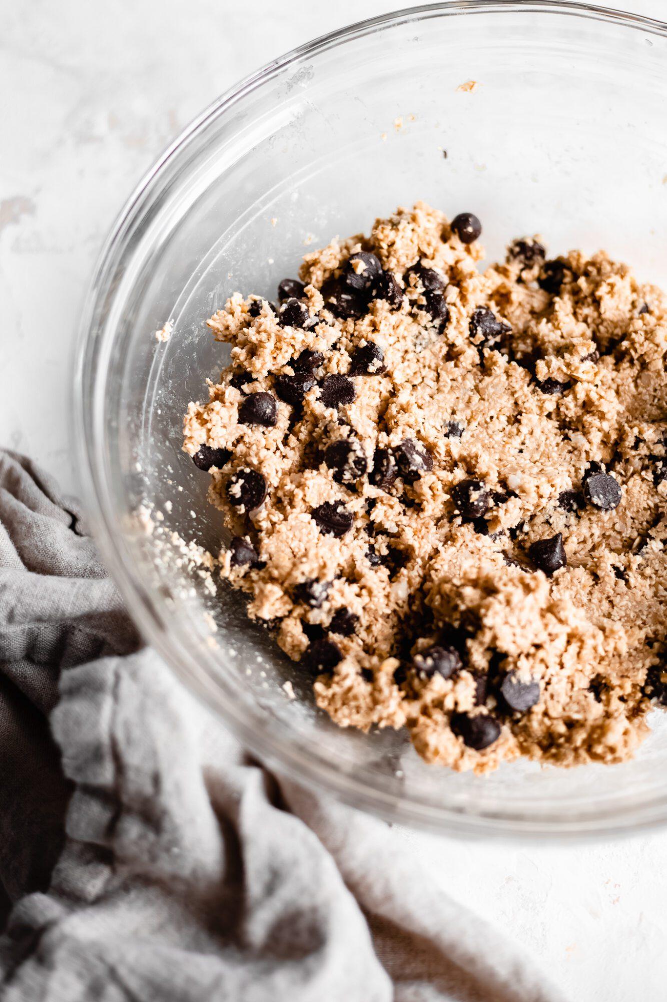 bowl of vegan cookie dough